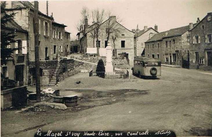 carte postale ancienne mairie vue centrale