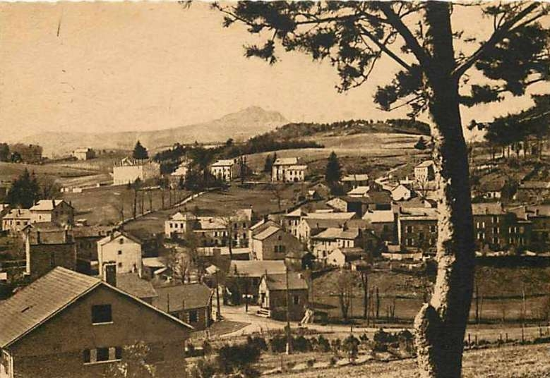 carte postale ancienne sortie route du Chambon