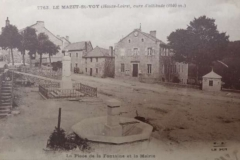 carte postale ancienne mairie fontaine